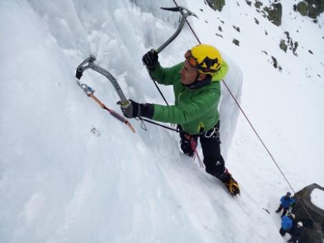 escalada en hielo